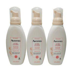 Aveeno Ultra-Calming Foaming Facial Cleanser X3